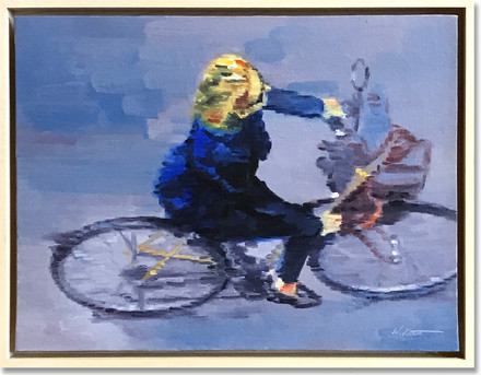 Hotelier on Bicycle in Paris IV
