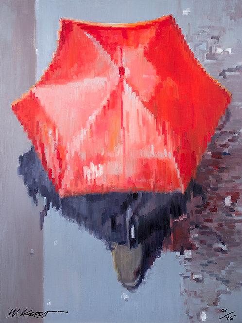 16x12 archival print Red Umbrella