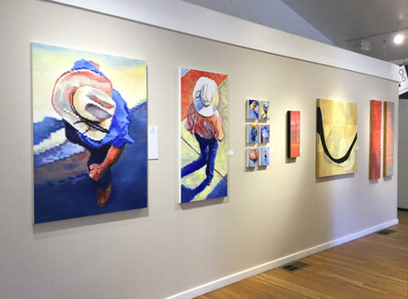 "Keating paintings in the ""Untitled"" show, an interactive exhibit that invites you to title"