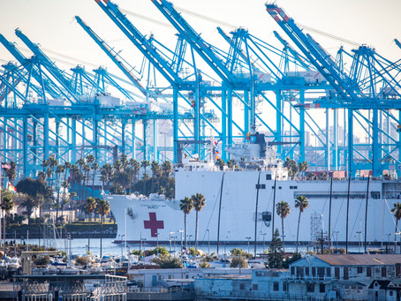 As Coronavirus Cases Swell in Los Angeles, US Naval Ship Becomes a Makeshift Hospital