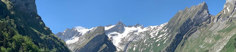 Alpstein Gebirge mit Saentis