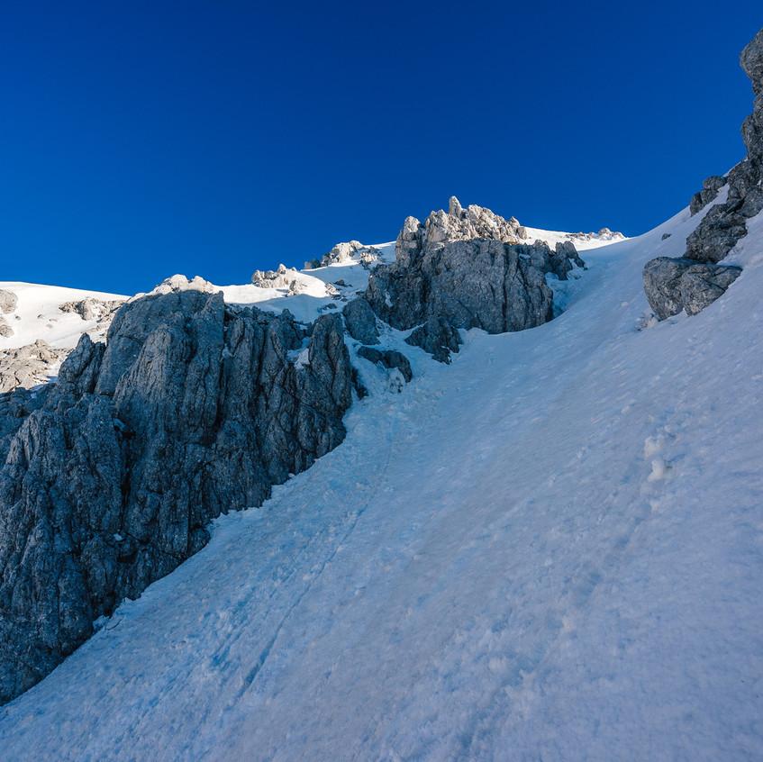 Trocha zajímavějšího lezení nakonec.
