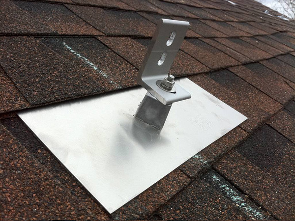 Quick Mount PV on a Composite Asphalt Shingle