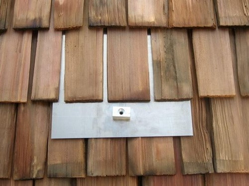 Solar mount on Wood Shake Roof