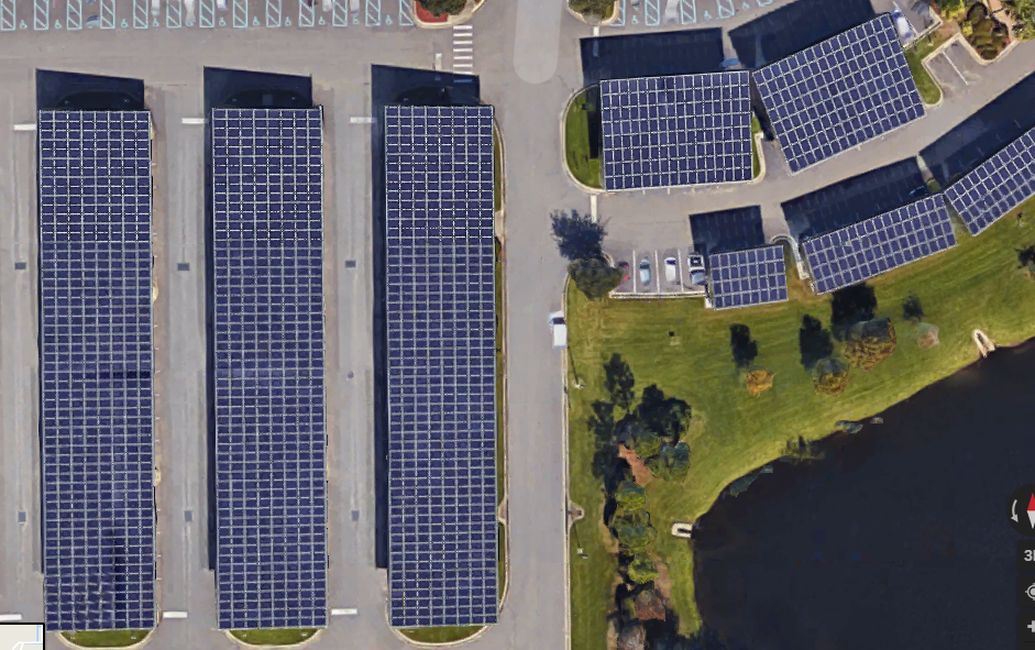 Solar Covered Parking VA Clinic Viera, Fl.