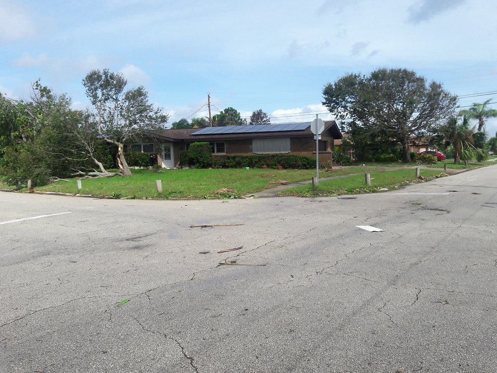 Solar on a home in Satellite Beach after Hurricane Irma