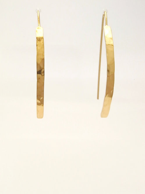 copy of E102 Gold plated silver bar earrings