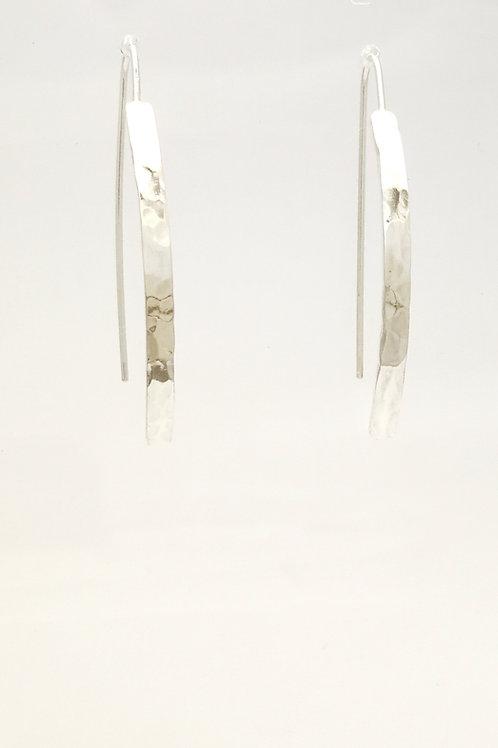 E101 Silver bar earrings