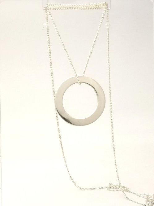 P108 Silver Circle pendant