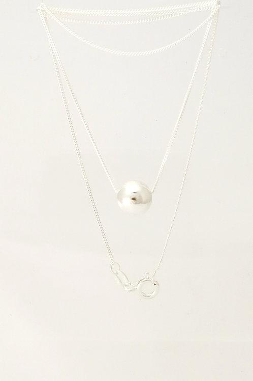 E107 Silver ball pendant