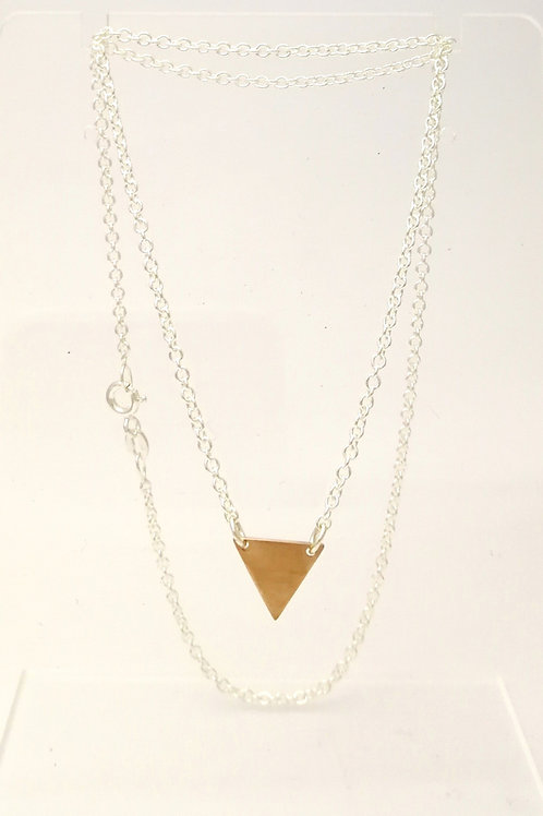 P103 Gold plated triangle pendant