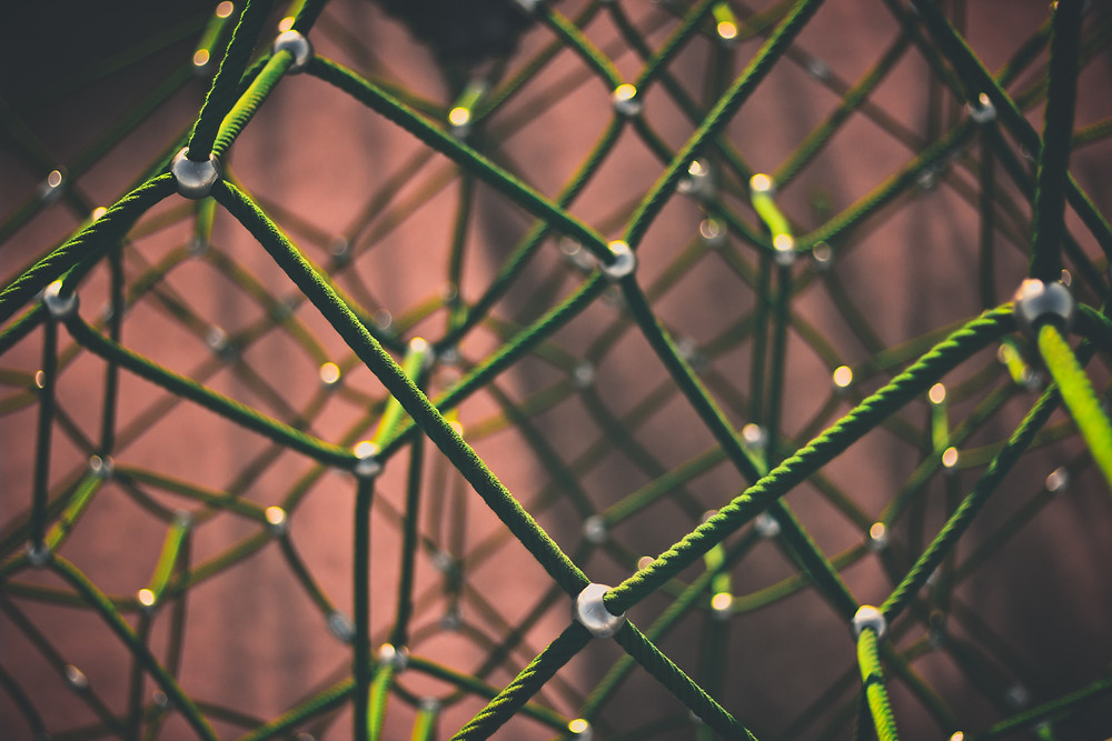 green lattice that looks like a graph.