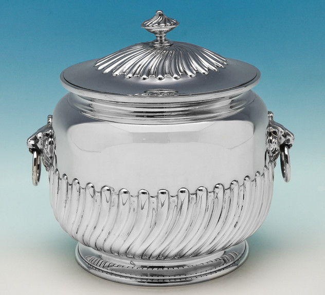 Victorian Sterling Silver Biscuit Box