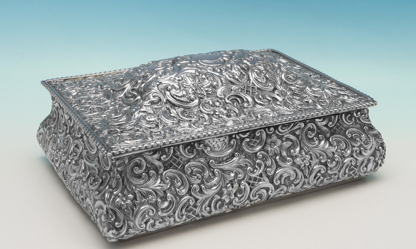 Victorian Sterling Silver Jewellery Box