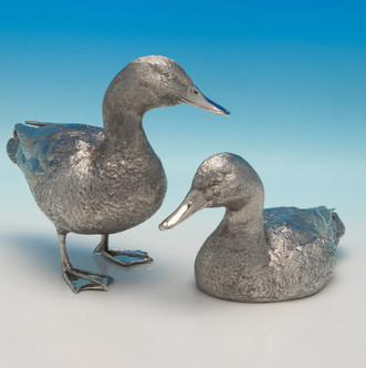 Elizabeth II Sterling Silver Pair Of Ducks