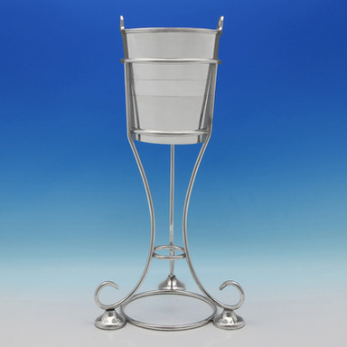 George V Silver Plate Champagne Bucket & Stand