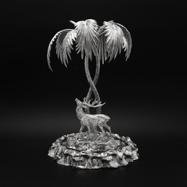 Stag & Palm Tree Centrepiece