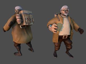 Stylized Game Character created in Maya/Zbrush