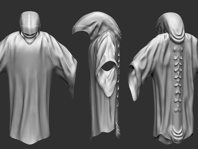 Zbrush Sculpt of a Wraith type Character created using Zbrush