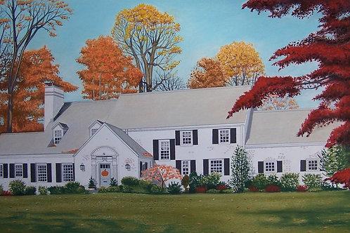 """Large Color House Portrait 30""""x20"""""""