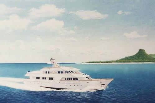 """Large Color Boat Portrait 30""""x20"""""""