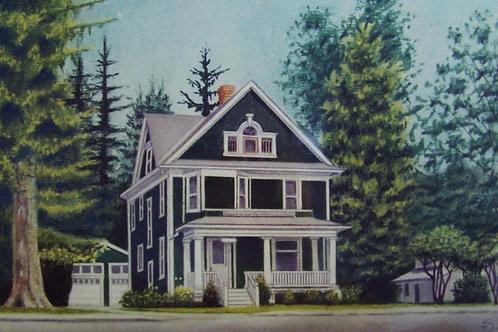 """Small Color                    House Portrait      24""""x18"""""""