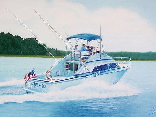 """Small Color Boat Portrait 24""""x18"""""""