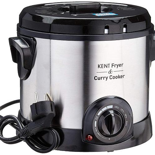 KENT - 16001 Fryer and Curry Cooker 1500-Watt (Steel Grey)