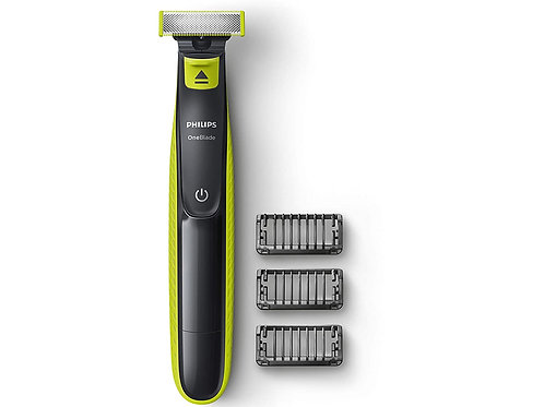 Philips QP2525/10 OneBlade Hybrid Trimmer and Shaver with 3 Trimming Combs Runti