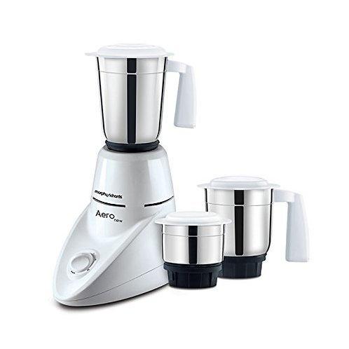 Morphy Richards Aero 500-Watt Mixer Grinder with 3 Jars (White)