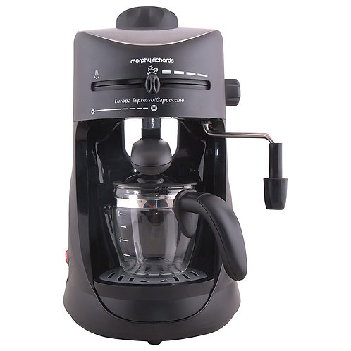 Morphy Richards New Europa 800-Watt Espresso and Cappuccino 4-Cup Coffee Maker (