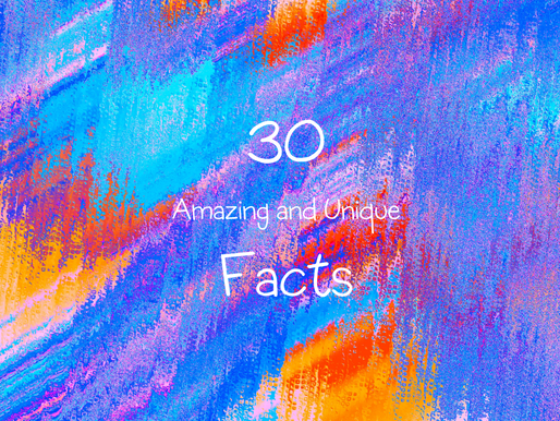 30 Amazing and Unique Facts