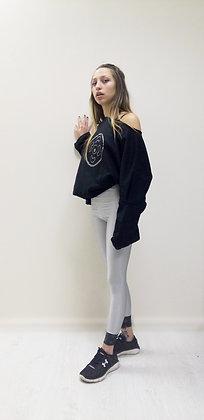 Olivia Bomber Sweats Black | Grafite Vinyl Print