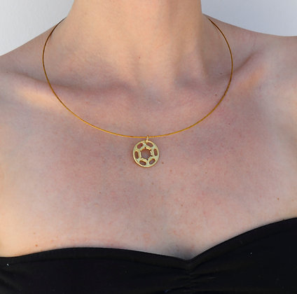 koubi Pendant | Bronze wire in cable