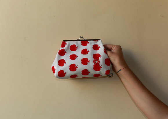 Old Lady Purse | Red Apples