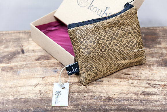 Leather Coin Pouch | Snake | Small