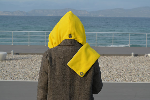 Hood Fleece | Double Faced| Lemon