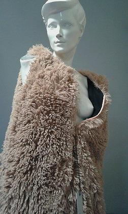 Vest Coat | Double Faced | Faux Fur Candy Creme