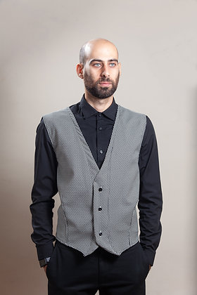 Vest Dot-Toulip | Black + White