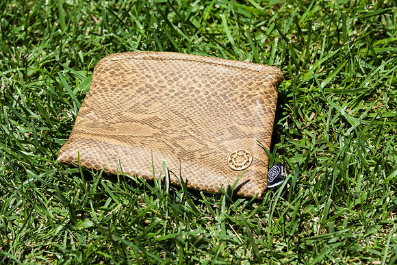 Pouch | Leather | Snake Pattern | Medium