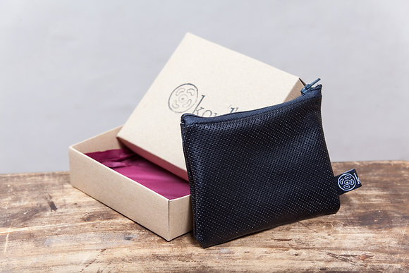 Leather Coin Pouch | Black | Small