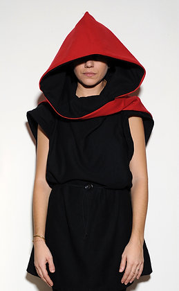 Hood | Double Faced | Black & Red