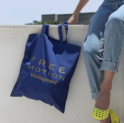 FreeMotion Series | Tote Bag | Blue_Gold Vinyl
