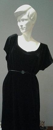 Bat Cocktails Dress | Velvet | Black