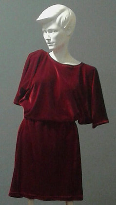 BatShirt and Skirt Set | Velvet | Ruby
