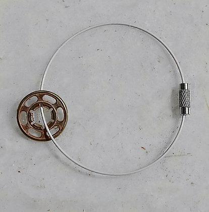 koubi Bracelet | Pink Brass | White Wire | Fem