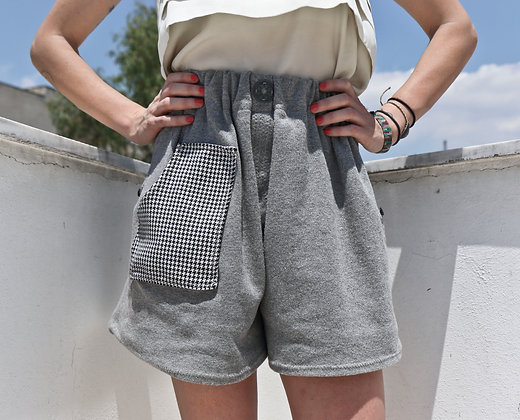 Zip Culotte_2Ways | Grey