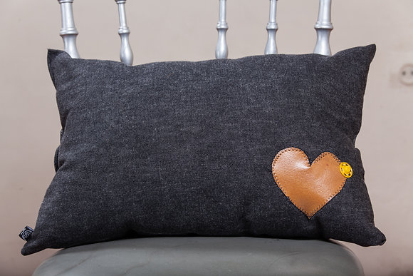 Cushion BlueJeans | Leather Heart | Ruby Tape
