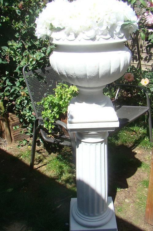 127cm Flower Urn and Plinth