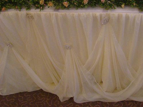Ivory/Cream Cake Table Skirt (10ft)